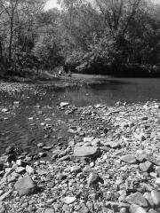 Creek bed bw 2