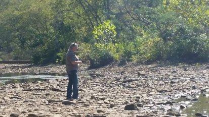 Rebecca standing in rocks